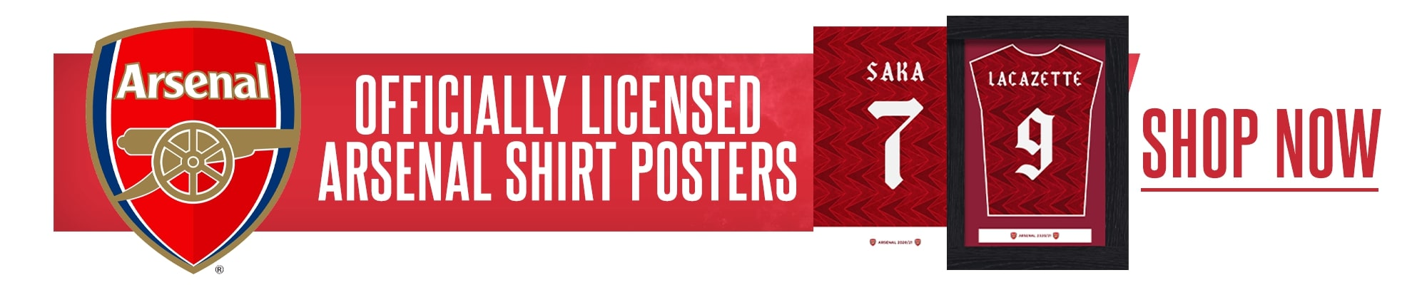 Official Arsenal Shirt Posters