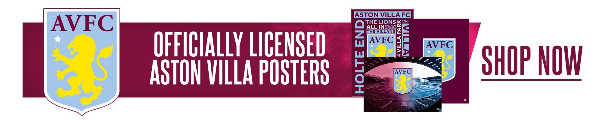 Official Aston Villa Posters