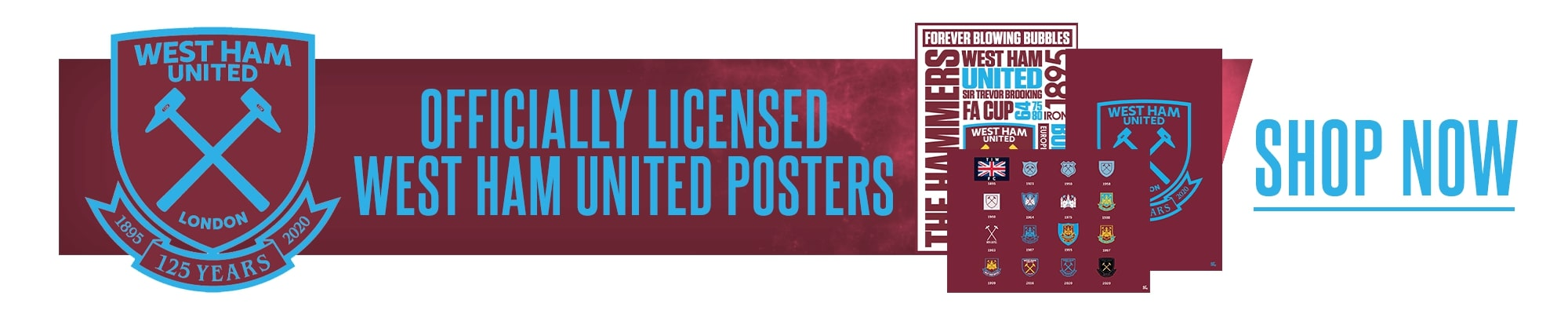 Official West Ham Posters