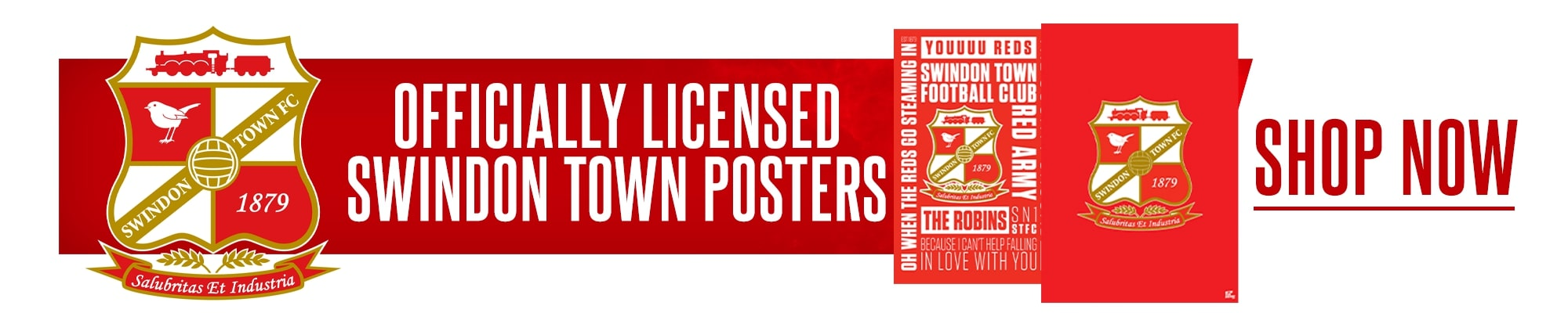 Official Swindon Town Posters