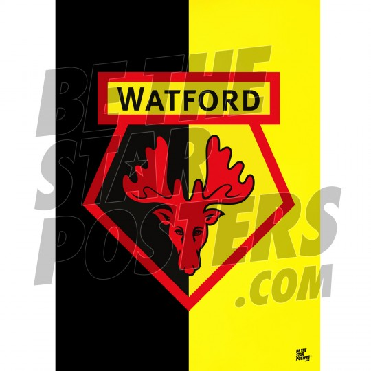 Watford FC A3 Crest Poster