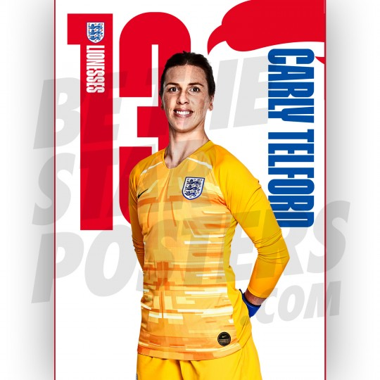 Lionesses Carly Telford A3 Poster
