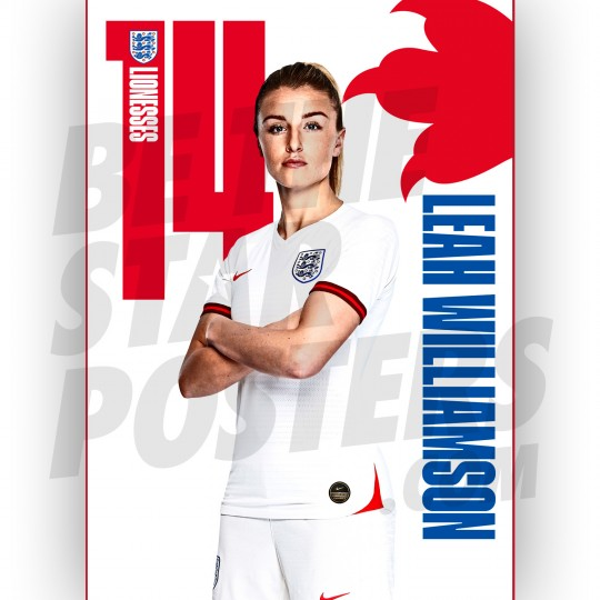 Lionesses Leah Williamson A3 Poster
