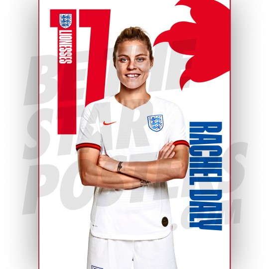 Lionesses Rachel Daly A3 Poster