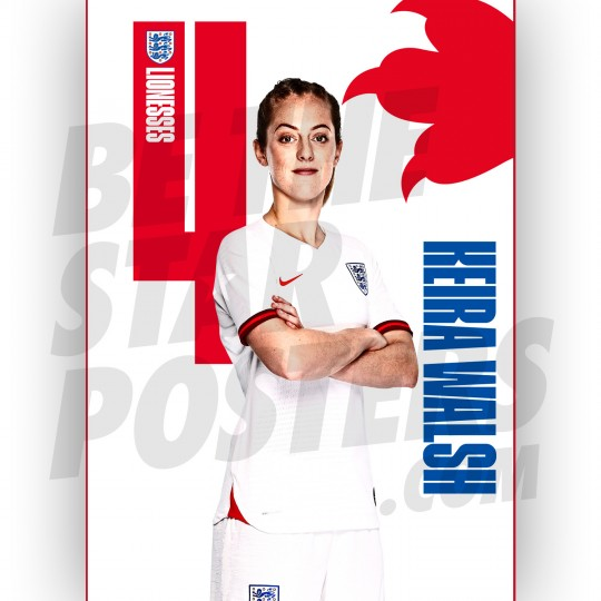 Lionesses Keira Walsh A3 Poster
