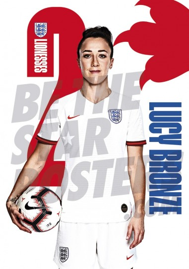 Lionesses Lucy Bronze A1 Poster