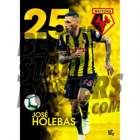 Watford FC A3 Holebas 18/19 Player Poster