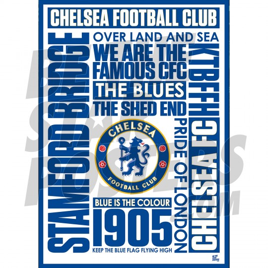 Chelsea FC Blue Is The Colour Poster A2/A3/A4