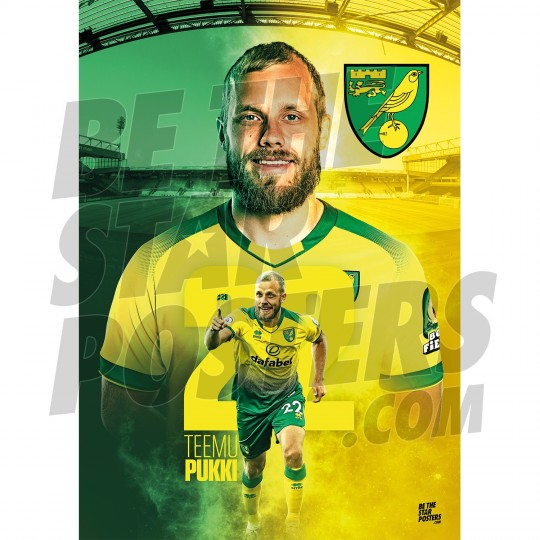 Pukki Norwich FC 19/20 Action Poster