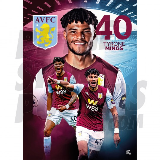 Aston Villa FC A2 Mings 19/20 Player Poster