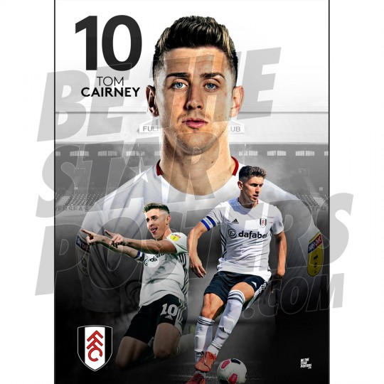 Fulham FC A2 Cairney 19/20 Player Poster