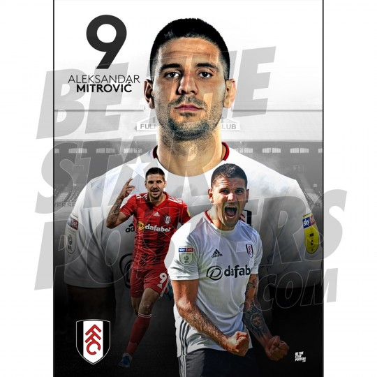 Fulham FC A2 Mitrovic 19/20 Player Poster