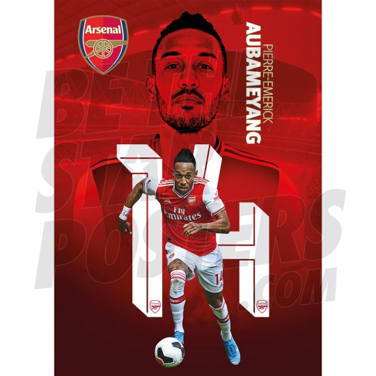 Aubameyang Arsenal FC 19/20 Action Poster