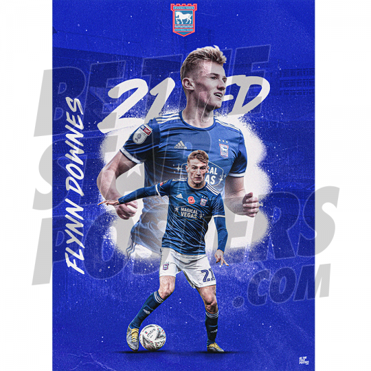 Downes A3 Ipswich FC 19/20 Poster