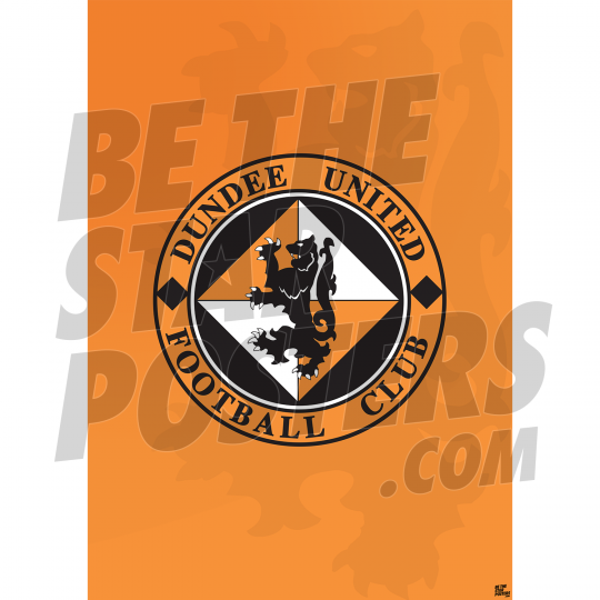 Dundee United Badge A2 Poster 19/20