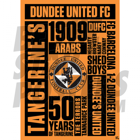 Dundee United Word A2 Poster 19/20