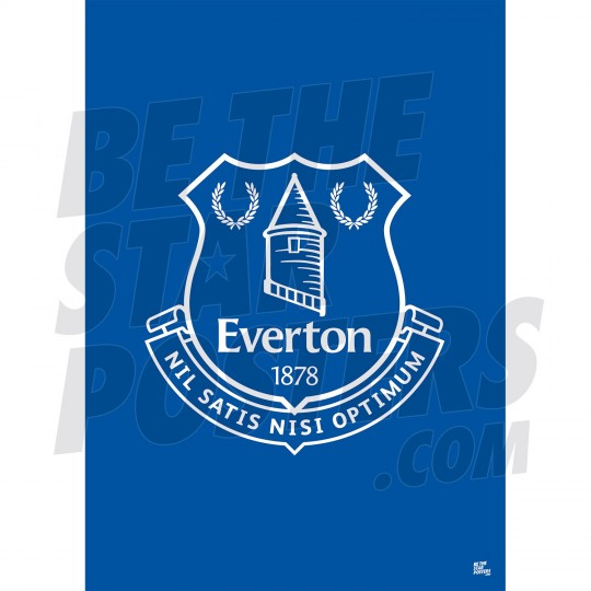 Everton FC A3 Crest Poster