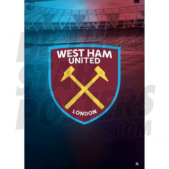 West Ham United FC A3 Crest Poster