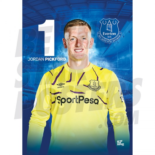 Everton Pickford A3 19/20 Poster