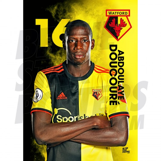 Doucoure Watford A3 FC 19/20 Action Poster