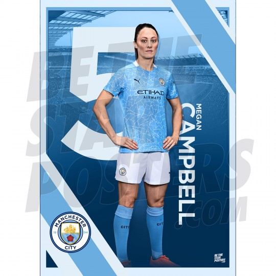 Campbell Man City FC A3 Poster