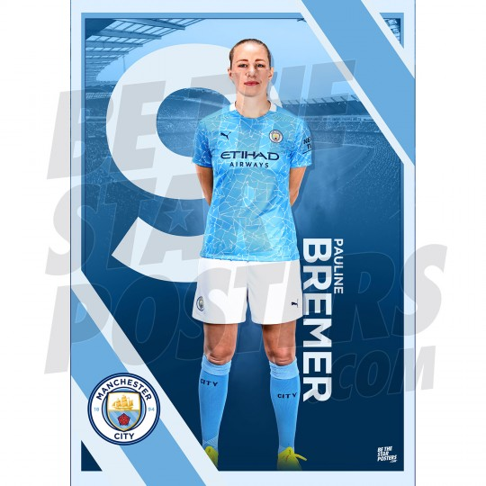 Bremer Man City FC A3 Poster
