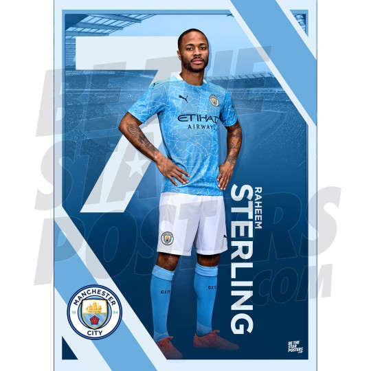 Sterling Man City FC A3 Poster