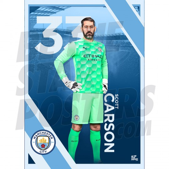 Carson Man City FC A3 Poster