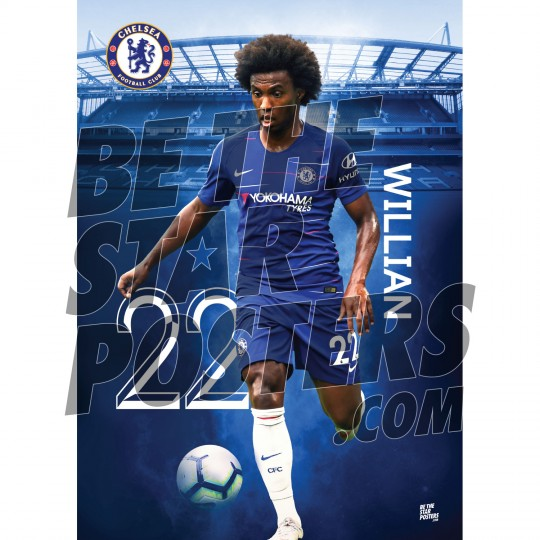 Chelsea FC A2 Willian 18/19 Player Poster
