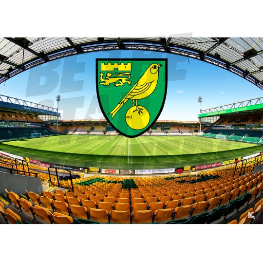 Norwich City FC A2 Stadium Poster
