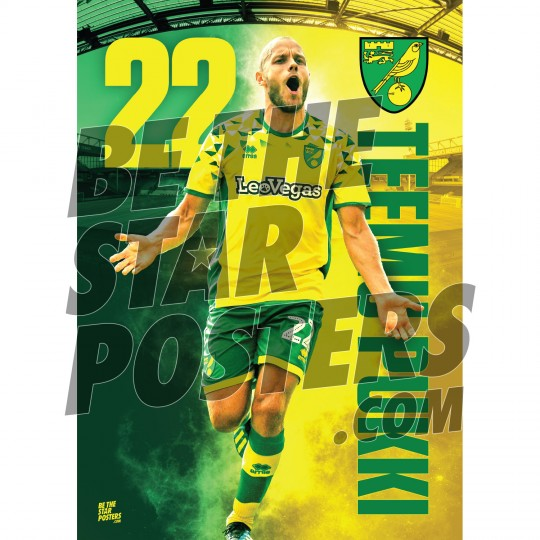 Norwich City FC A3 Pukki 18/19 Player Post