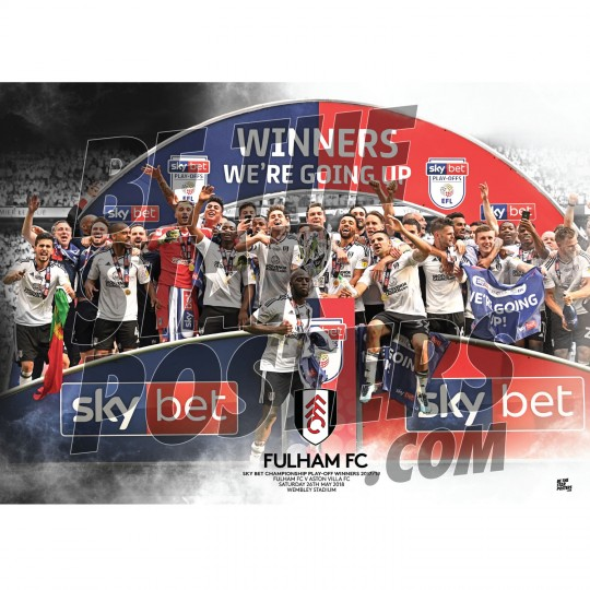 Fulham FC A3 Play Off Win Poster 17/18