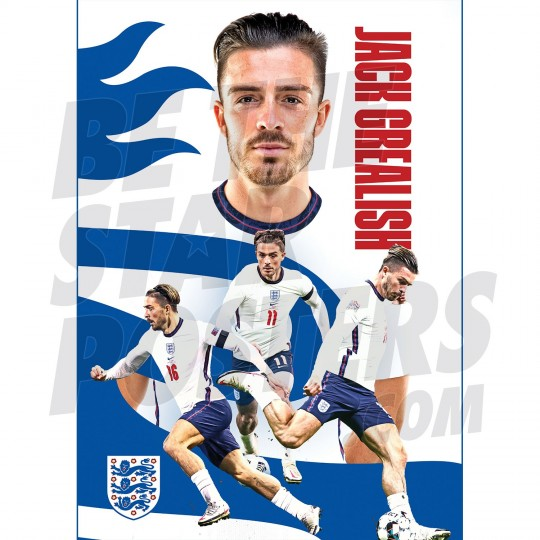 Jack Grealish England Action Poster A2/A3 20/21
