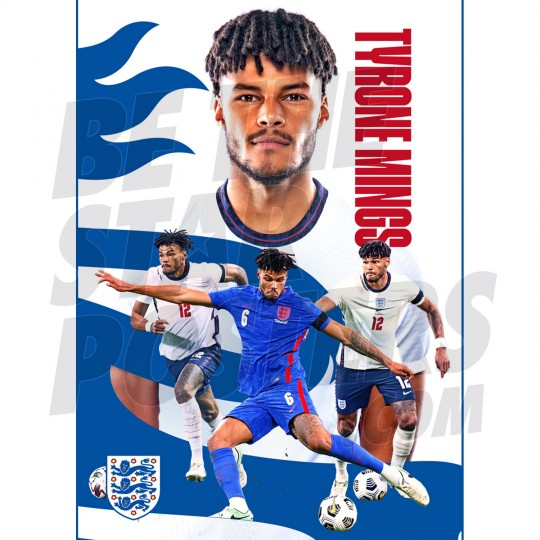 Tryone Mings England Action Poster A2/A3