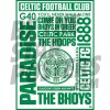 Celtic FC A2 Word Poster