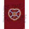 Hearts FC Badge A3 Poster 19/20