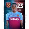 West Ham United FC Diop A3 Poster
