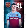 West Ham United FC Rice A3 Poster