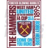 West Ham United FC Word Poster A2/A3