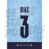 Ruben Dias Man City FC 20/21 Shirt Poster A4