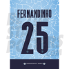 Fernandinho Man City FC 20/21 Shirt Poster