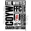 Fulham FC A3 Word Poster