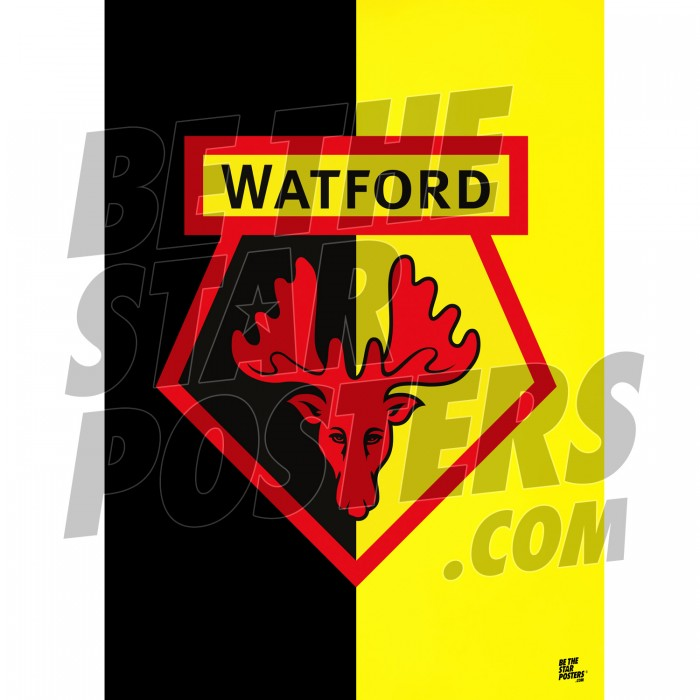 Watford FC A2 Crest Poster