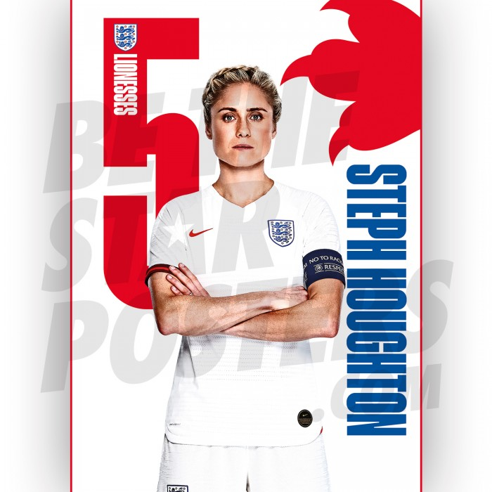 Lionesses Steph Houghton A3 Poster
