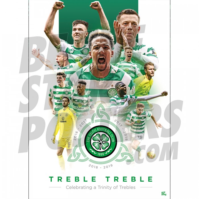 Celtic FC A3 Trinity Poster