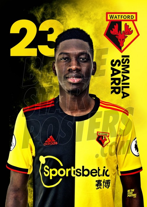 Watford FC A3 Sarr 19/20 Player Poster