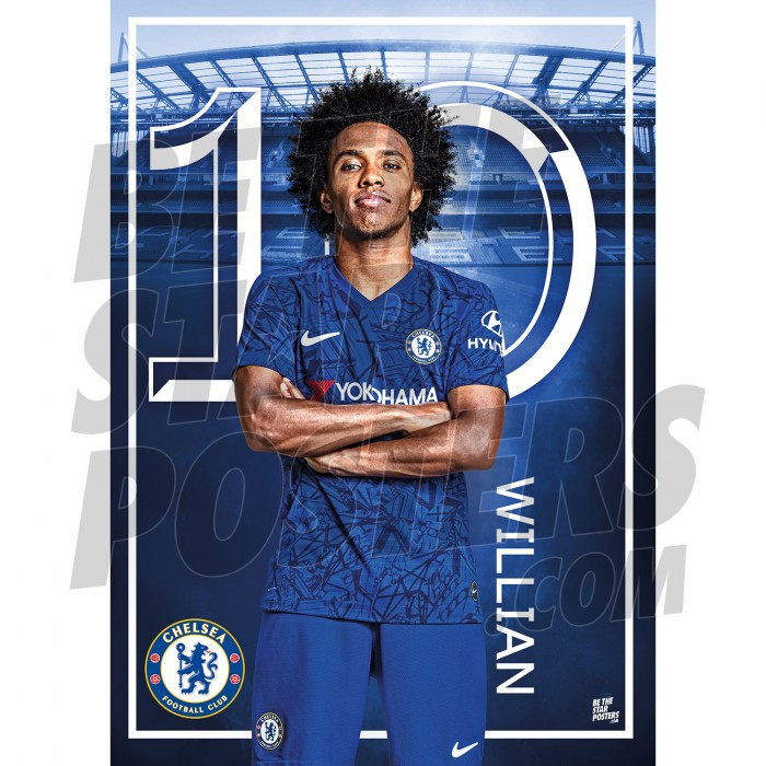Chelsea FC A3 Willian 19/20 Player Poster