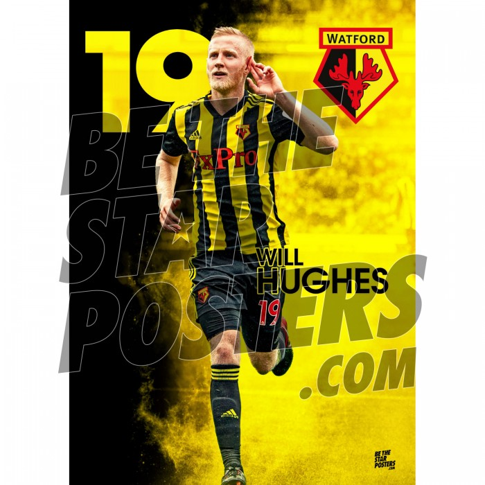 Watford FC A3 Hughes 18/19 Player Poster