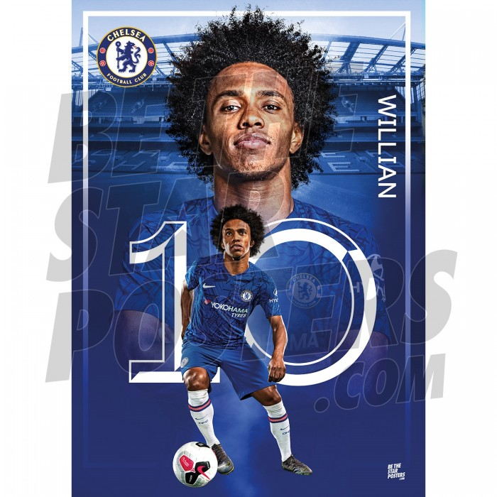 Chelsea FC A2 Willian 19/20 Action Poster