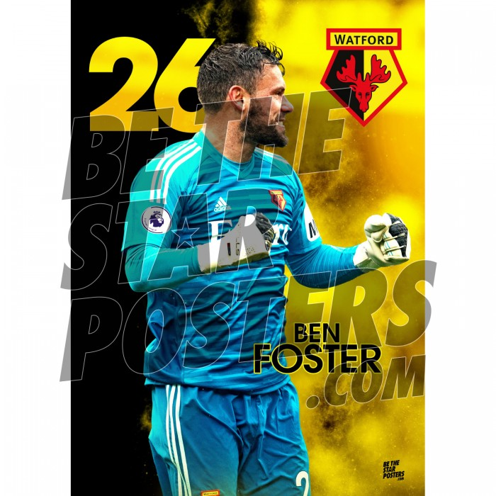 Watford FC A3 Foster 18/19 Player Poster